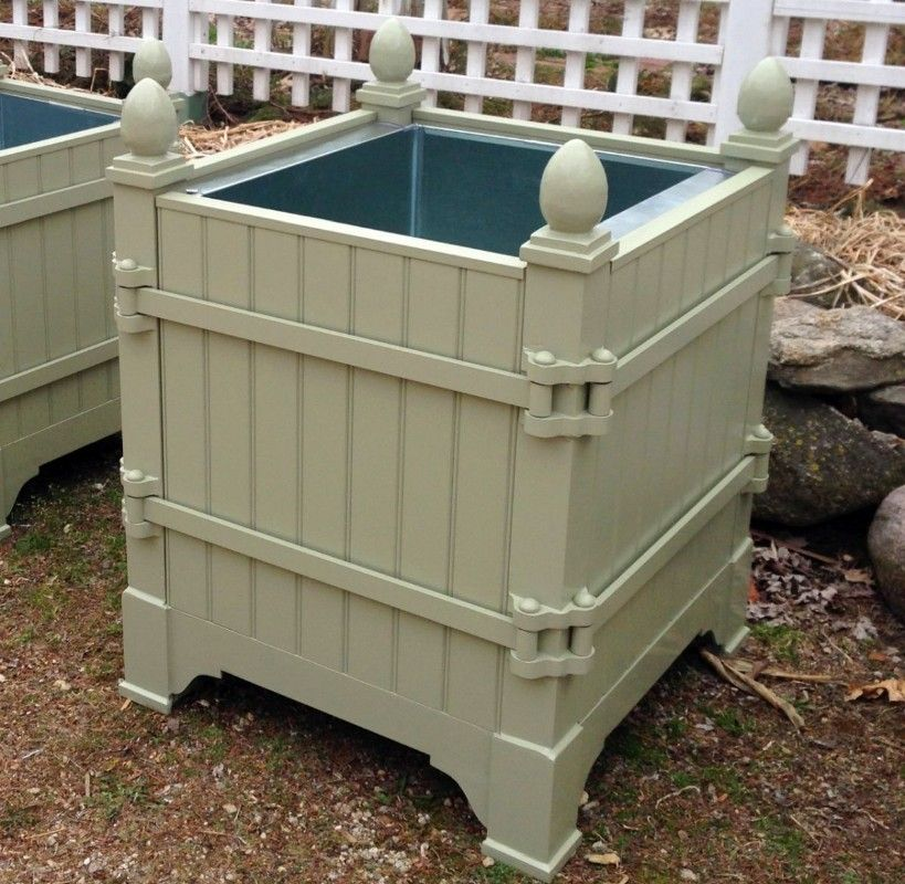 Versailles Aluminum French Style Orangerie Planter Box Outside
