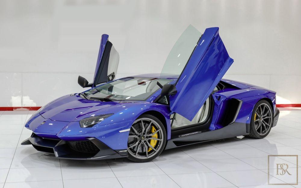 Lamborghini Aventador Lp 720 4 50th Anniversary 2014 Bleu For Sale