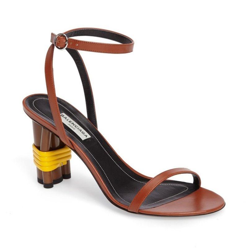Balenciaga Strappy Wrapped Heel Sandal