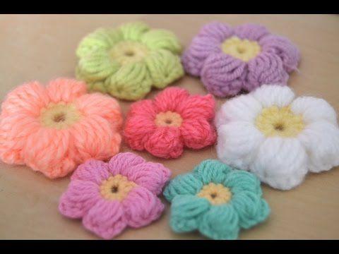 Cómo hacer labores con Flores puff en crochet - Patrones gratis ...
