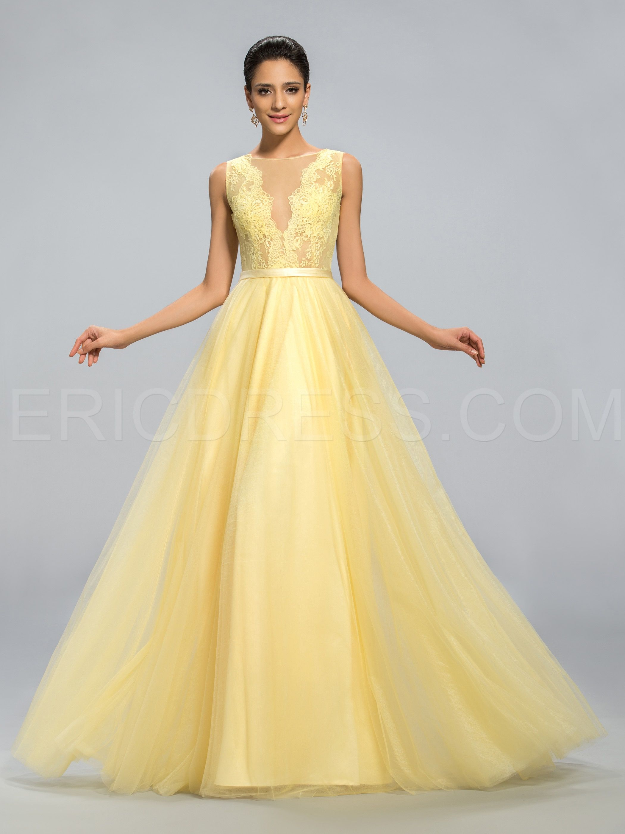 Strapless sexy back floor length evening dress special occasion
