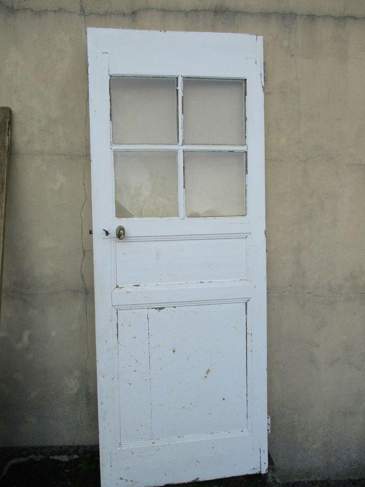 Porte Ancienne D Intrieur De Maison De Laiterie En Sapin Peinte En