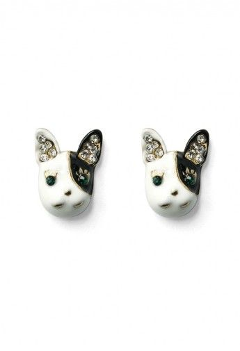 Crystal Dog Head Earings Earrings Accessory Retro In And Unique Fashion