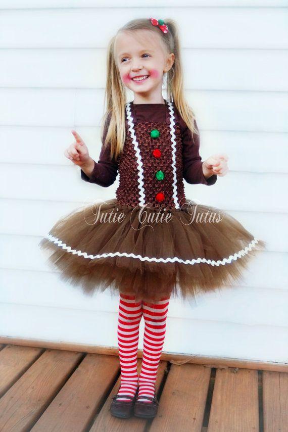 Gingerbread Girl Tutu Christmas Dress by TutieCutieTutus on Etsy c261089aecb7