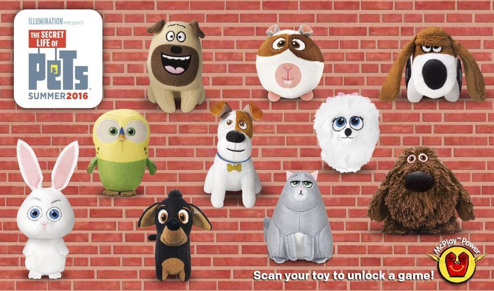 2016 Mcdonald S The Secret Life Of Pets Toys 10 Piece Complete Set