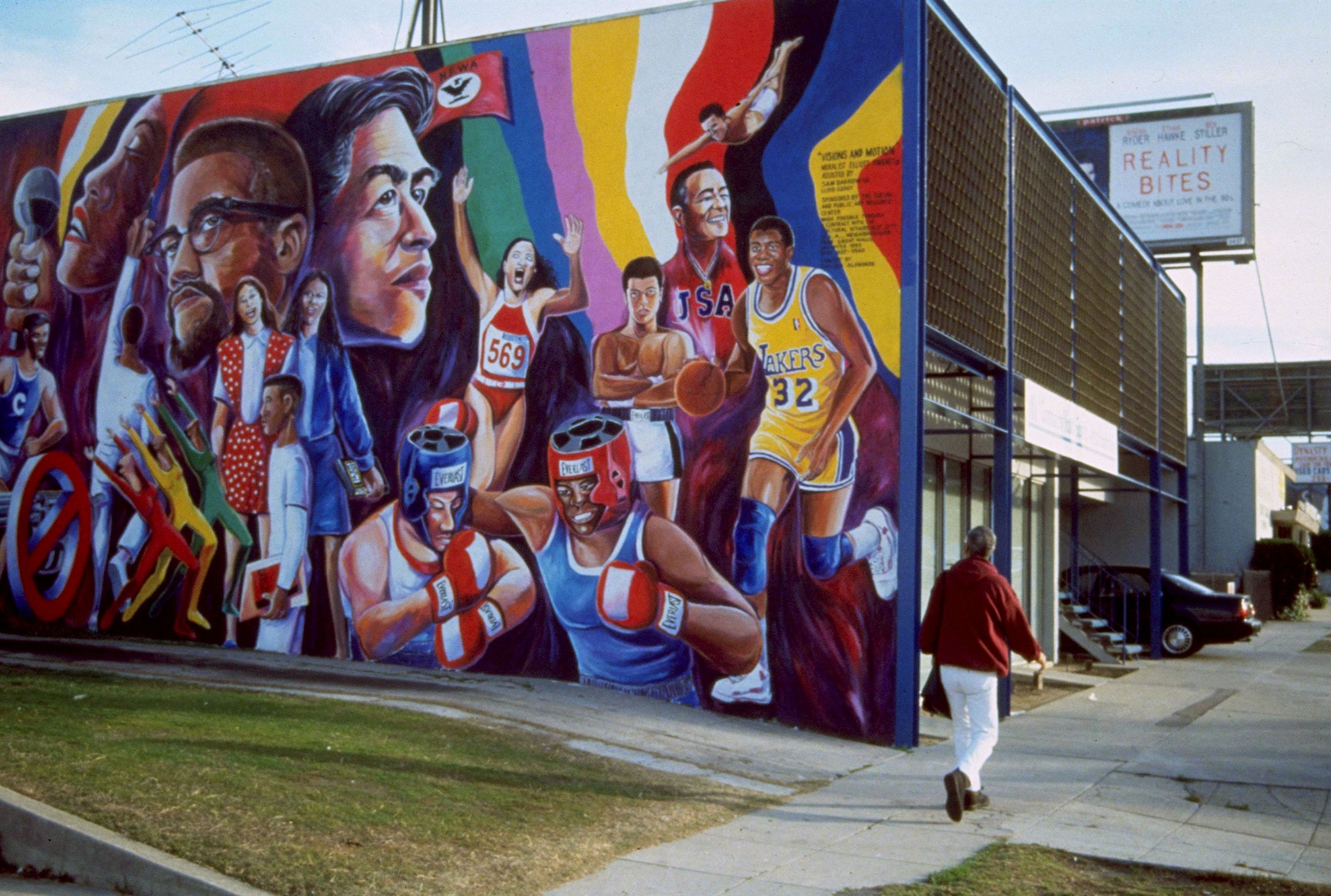 Community youth sports and arts foundation 488 crenshaw for Community mural