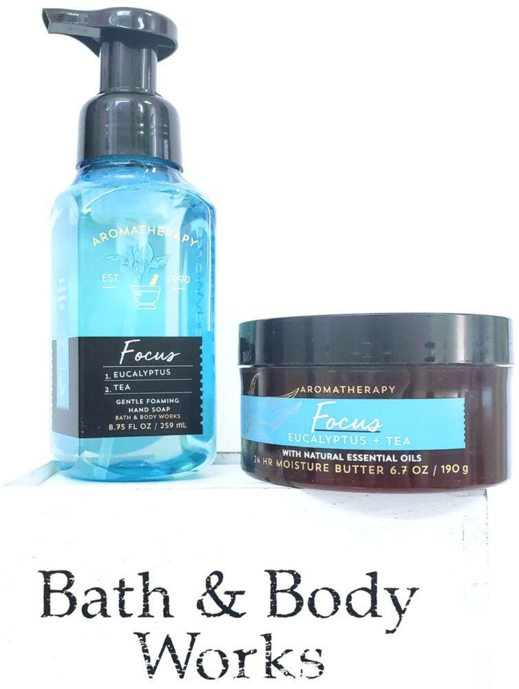 Bath Body Works Focus Eucalyptus Tea Foaming Hand Soap Body