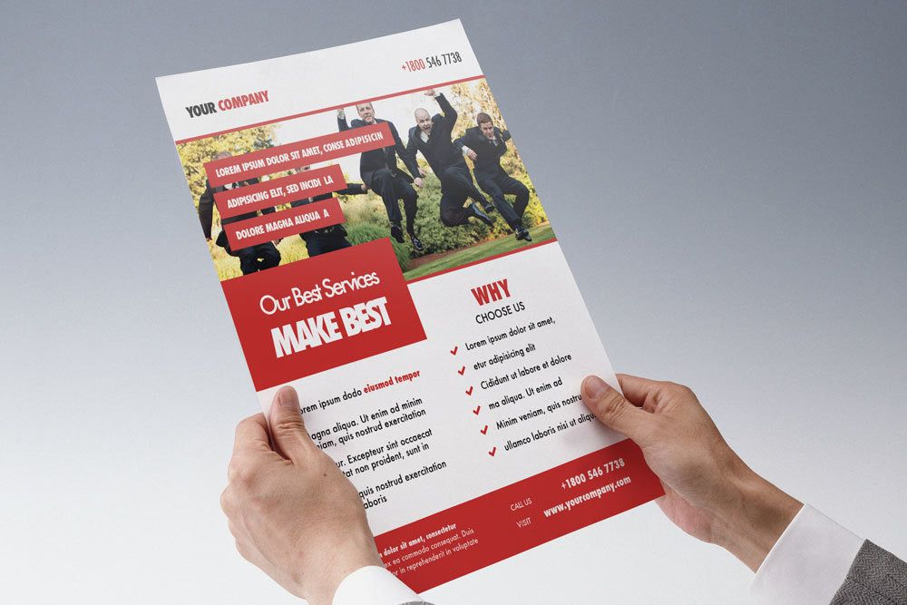 OnePageMarketingFlyerTemplatePSD Places To Visit - One page brochure template free