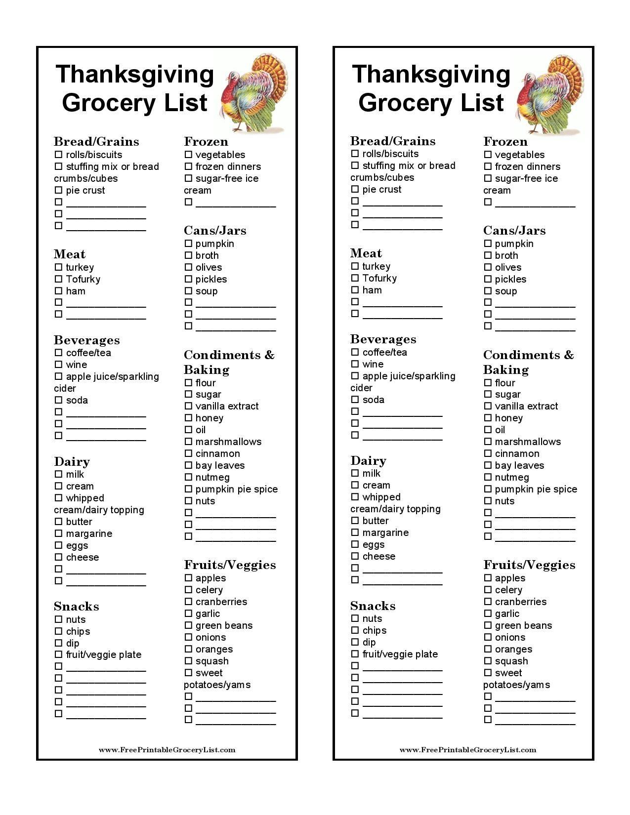 Free Printable Thanksgiving Grocery List Template Thanksgiving Grocery Thanksgiving Grocery List Thanksgiving Food List