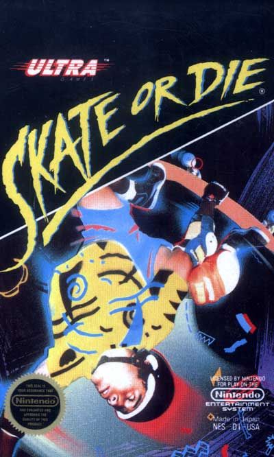 Skate Or Die Nes Ultra 1988 Nintendo Nes Video Game Collection Classic Nes Games