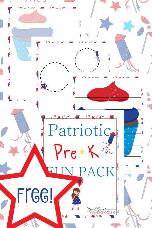 Free Patriotic PreK Fun Pack | Homeschool, Worksheets and Activities
