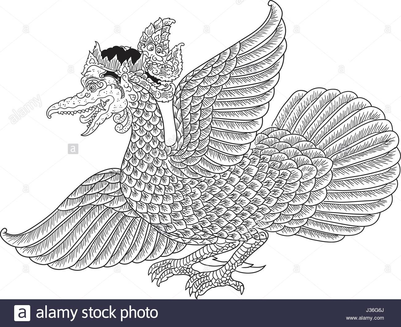 Download This Stock Vector Garuda Mahambira A Character Of