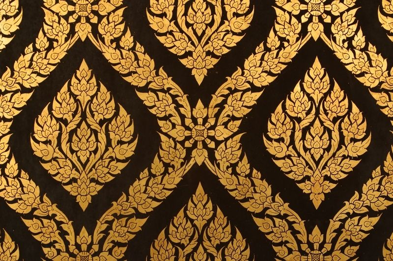 Blue And Yellow Wallpaper Non Woven Wallpaper Triangles: Black And Gold Wallpaper 2 , Picture, Image Or Photo