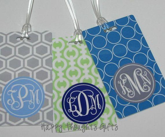 monogrammed bag tag - choose your design