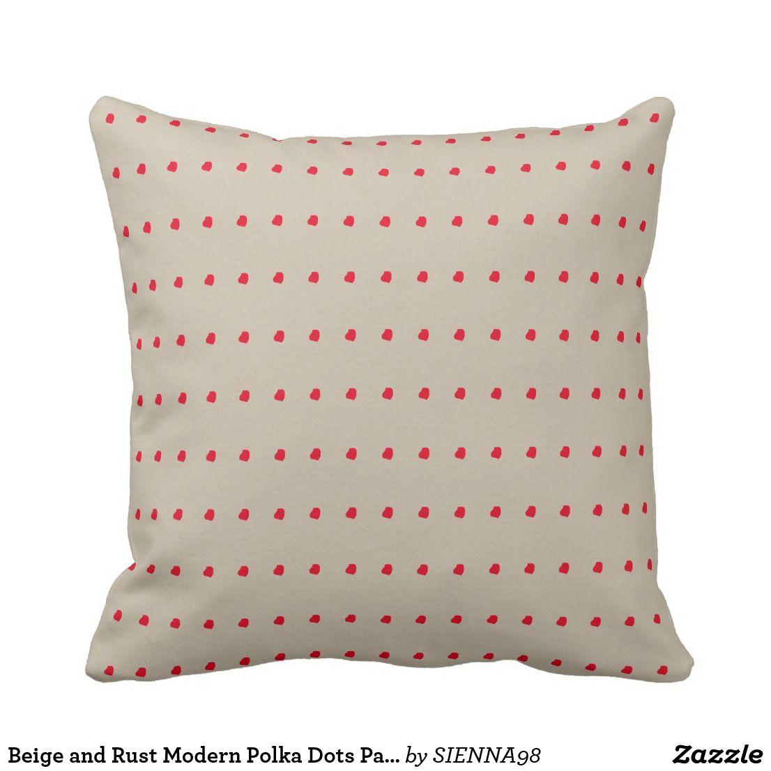 Beige and Rust Modern Polka Dots Pattern