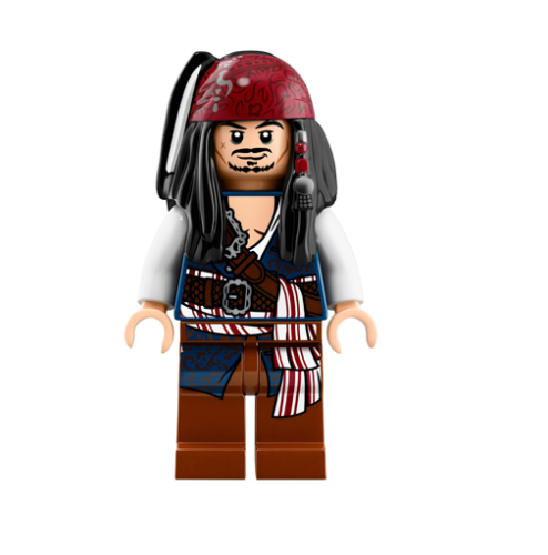 poc035 NEW LEGO Captain Jack Sparrow FROM SET 71042 PIRATES OF THE CARIBBEAN