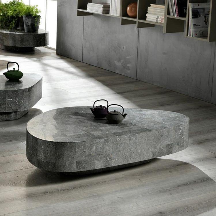 20 Couchtische Aus Stein Und Fossilstein In Modernem Design Couchtisch Stein Couchtisch Couchtisch Design