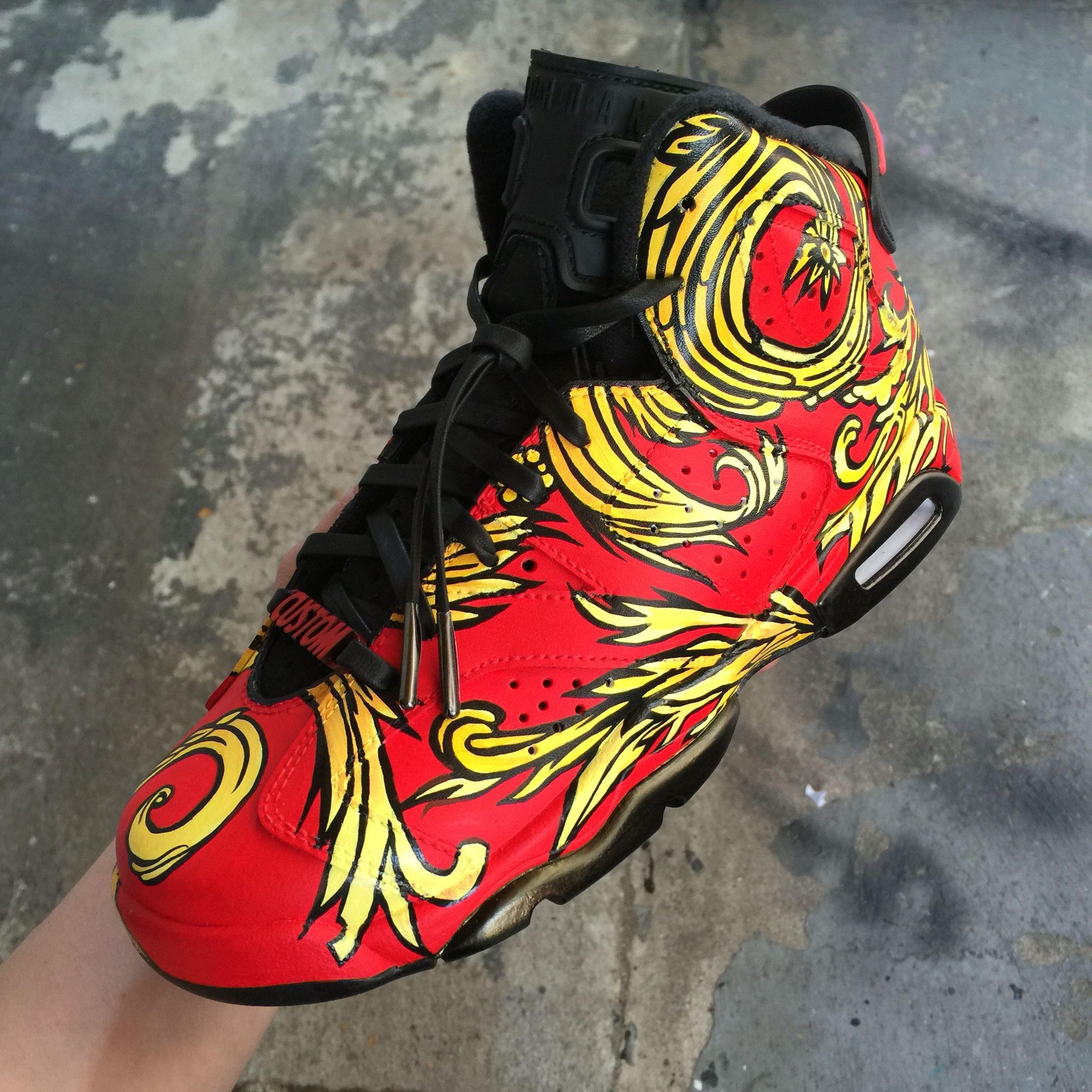 Custom Painted Jordan Six Supreme Kingofsneakers