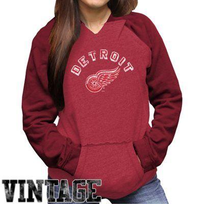 Original Retro Brand Detroit Red Wings Ladies Rela