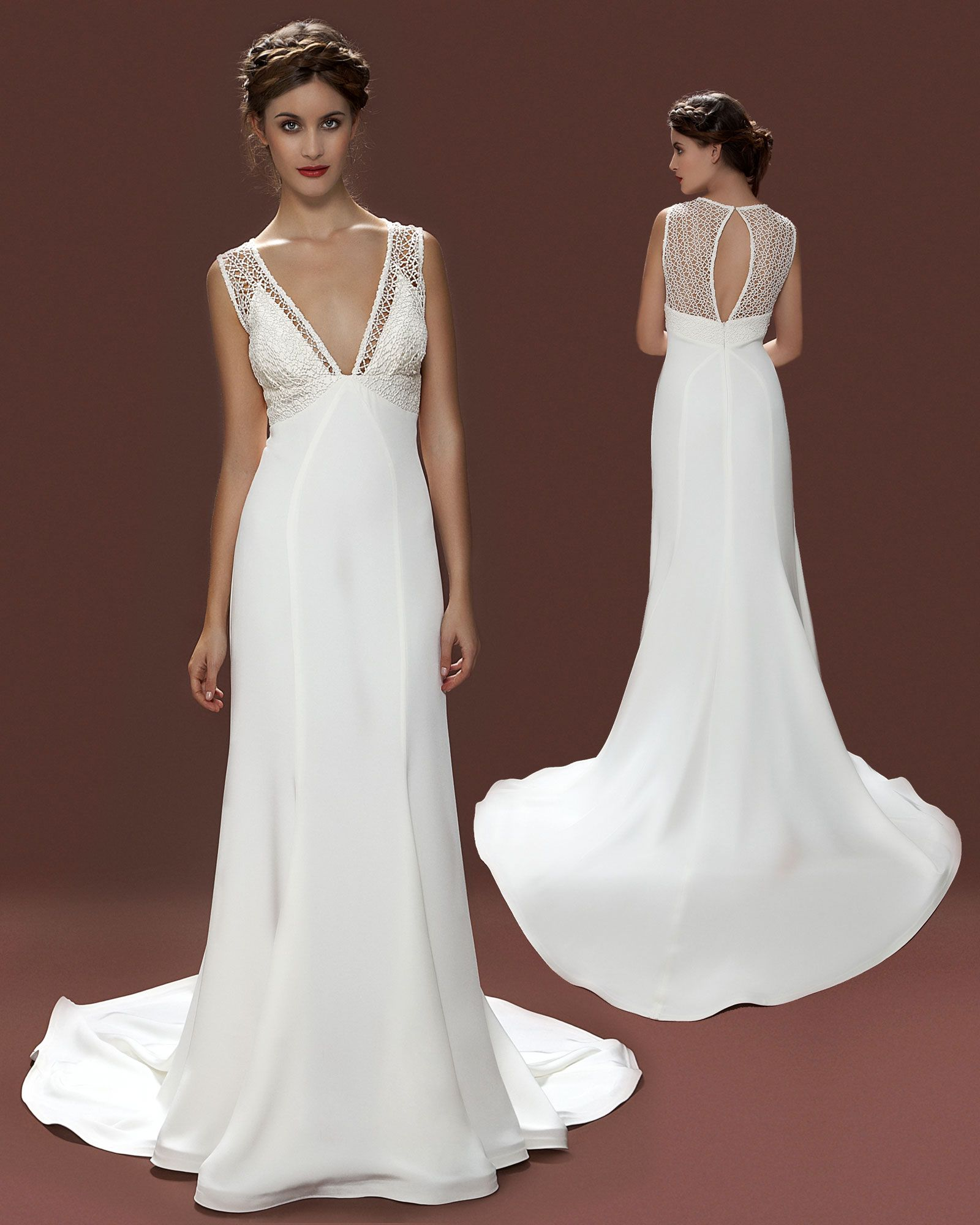 vintage inspired 1930s wedding dress Lara Hannah London Alberta ...