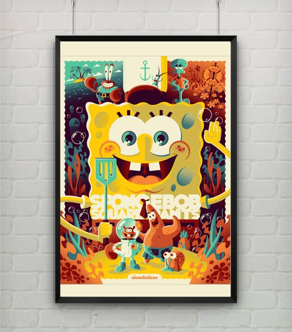 Hey, I found this really awesome Etsy listing at https://www.etsy.com/listing/496818406/spongebob-squarepants-animated-tv-series