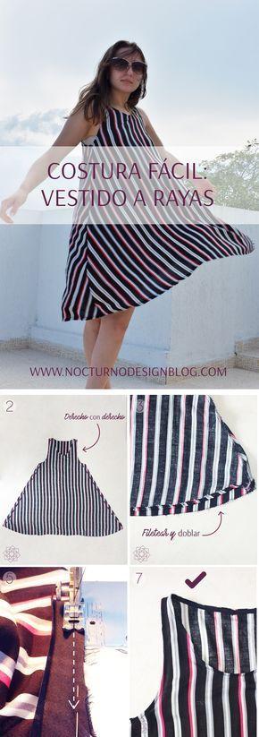 Tutorial de costura fácil: Vestido a rayas.