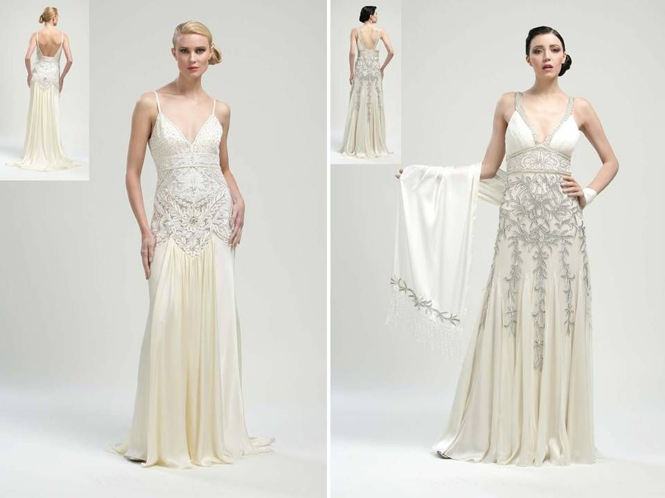 1920s inspired bridal gowns on pinterest 1920s art deco and vintage