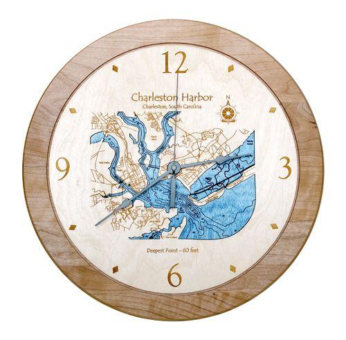 Charleston Harbor Clock 17 5 This Unique Wood Clock Featuring