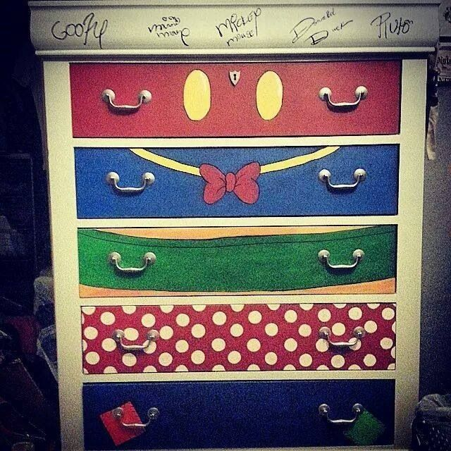 Diy Fab 5 Mickey Mouse Dresser Love It House Of Mouse