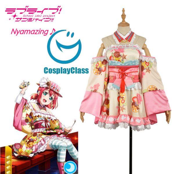 LoveLive Aqours Punk Rock Awakening Ruby Kurosawa Uniform Anime Cosplay Costume