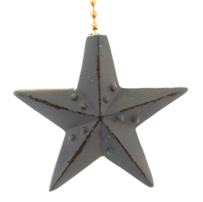 Blue Barn Star Fan Pull
