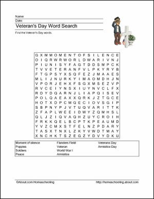Where Can I Find Free Veteran's Day Word Searches, and More? #veteransdayhonoring