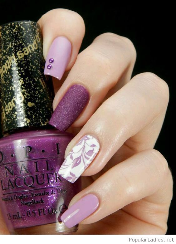 long-purple-nails-with-amazing-details | Beauty | Pinterest | Purple ...