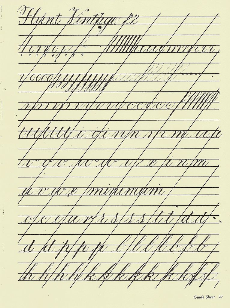 Copperplate practice sheet calligraphy handwriting