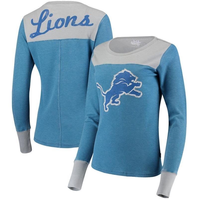 f60e2758 Detroit Lions Touch by Alyssa Milano Women's Blindside Long Sleeve ...