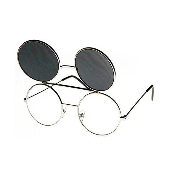 Lunettes de soleil Django vintage avec clip - HOS   lunettes de ... f50c4d665304