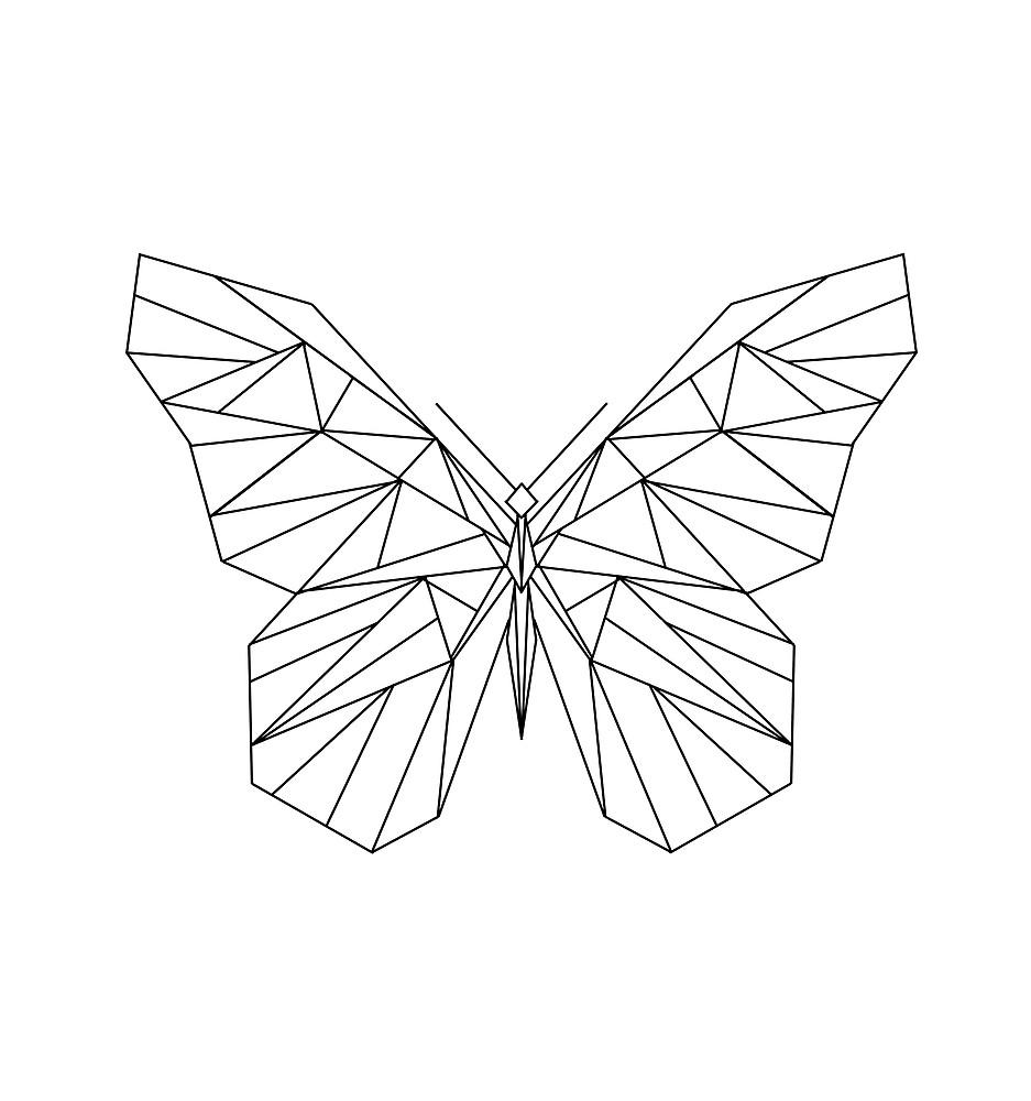 Mariposa En Un Fondo Geometrico Busqueda De Google Dibujos Con Lineas Rectas Arte De Geometria Marcos Para Texto