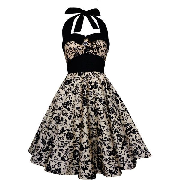 Black Roses Dress Brown Vintage Dress Rockabilly Dress Pin ...