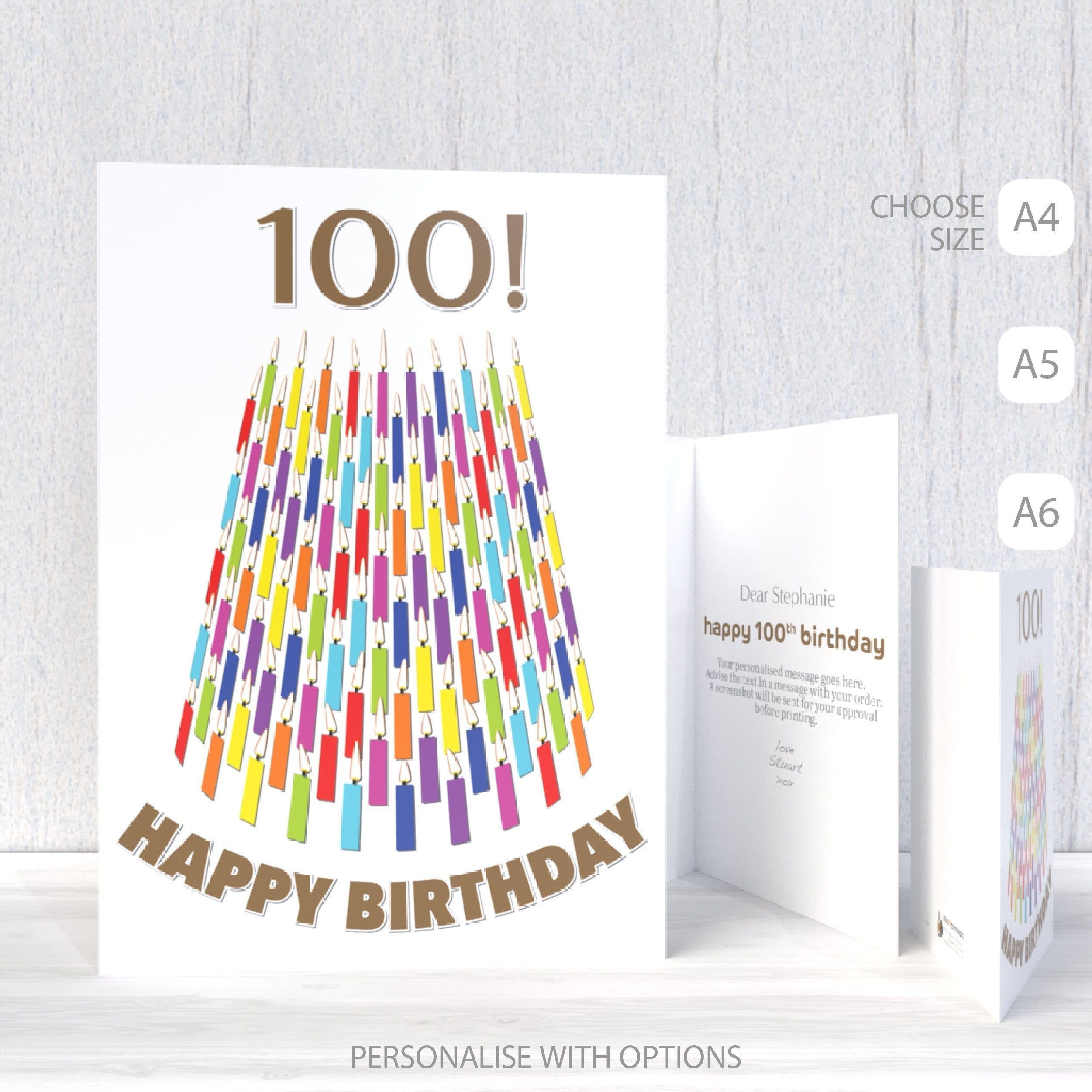 100th Birthday Card For Him For Her Unique 100 Bday Wishes Etsy Birthday Cards For Him 90th Birthday Cards 100th Birthday Card