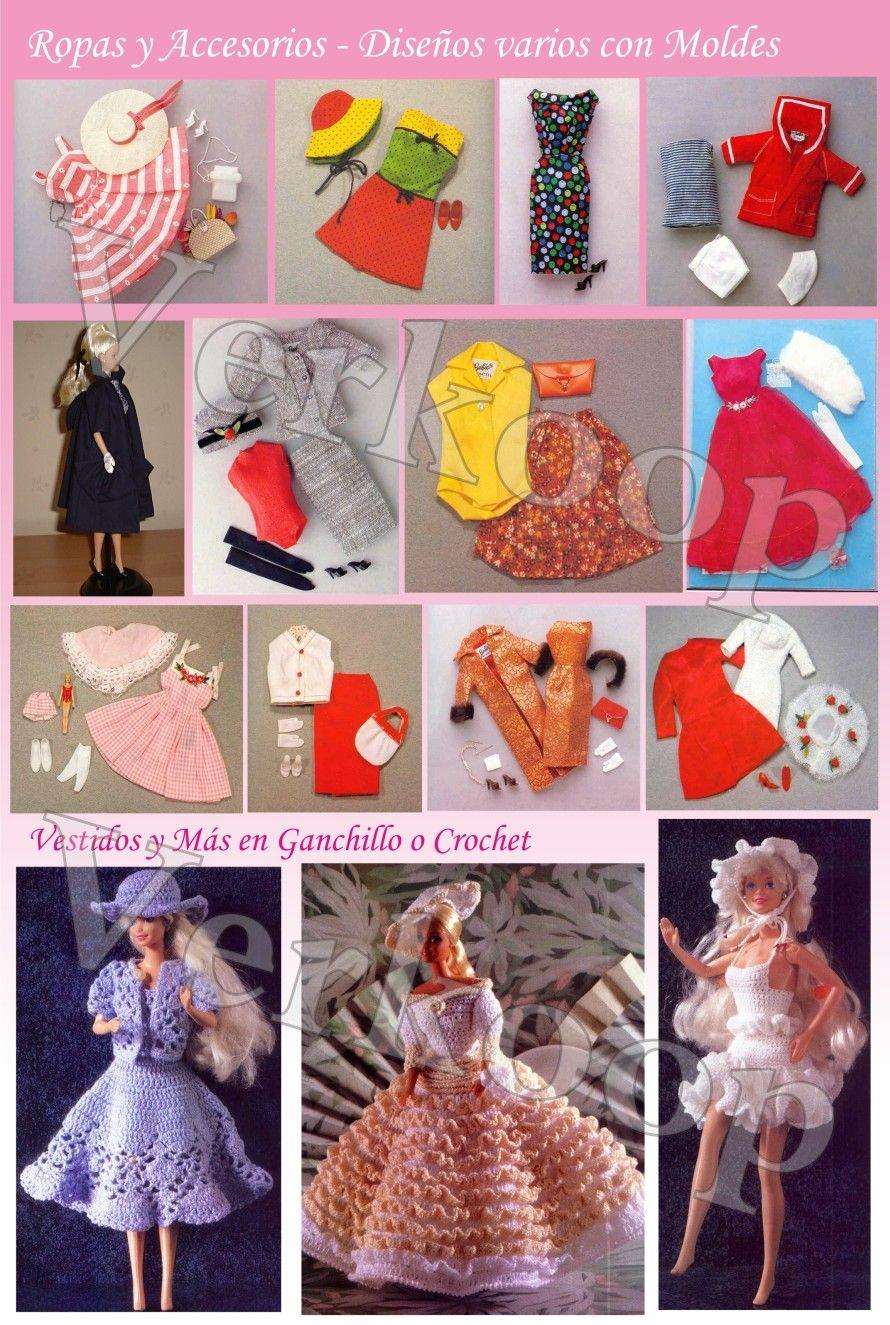 Vestidos para muñecas en crochet - Imagui   Crochet para barbi ...