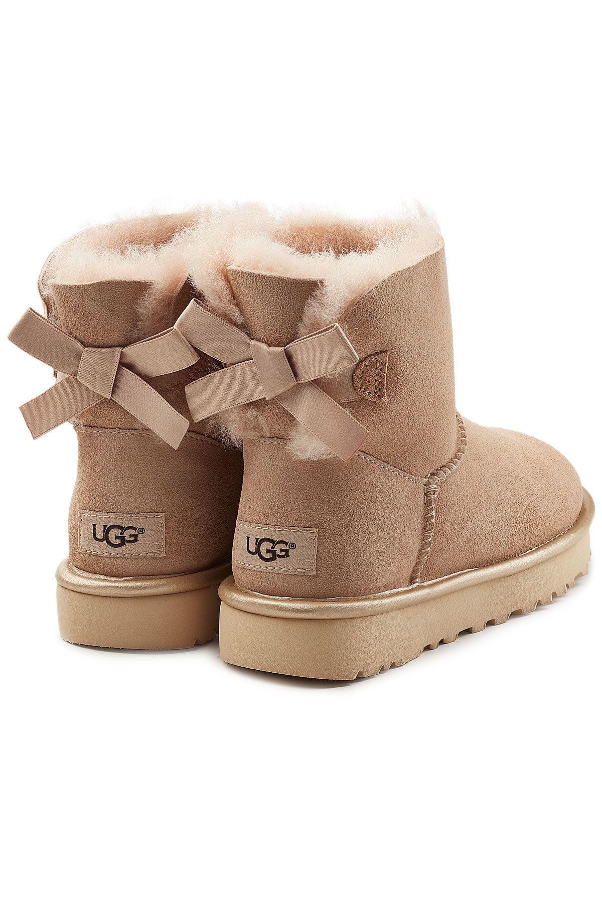Ugg Mini Bailey Bow Suede Boots Ugg Boots Ugg Mini Black Ugg Boots