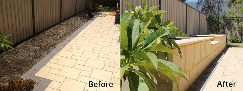 Landscaping With Limestone Blocks : January a m long limestone block garden bed with
