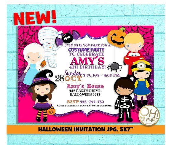 halloween birthday invitation halloween birthday party halloween