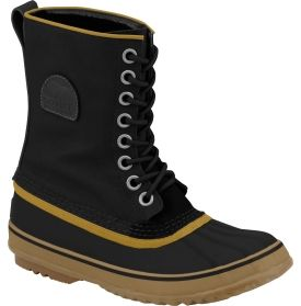 Treat yourself to luxury and protection against harsh winter weather in the SOREL™ 1964 Premium™ canvas winter boot. Seam-sealed, waterproof design features a waxed canvas upper for durability. A 9mm felted wool InnerBoot provides comfort and warmth. The vulcanized rubber shell is hand-crafted and waterproof with a herringbone outsole for excellent traction on snow and ice. Take winter style to new heights in the 1964 Premium boot.