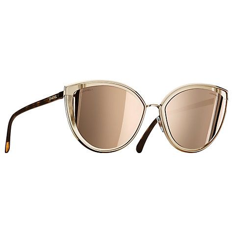 3176331206 Buy CHANEL Cat Eye Sunglasses CH4222 Gold Online at johnlewis.com ...