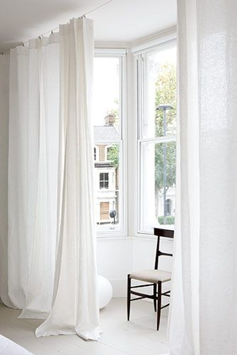 An Airy Treatment To Leave Windows Bare Yet Still Be Able Block The Light
