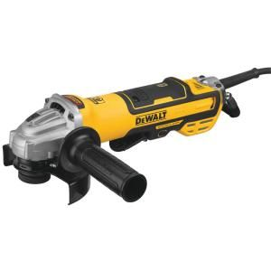 Dewalt 13 Amp Corded 5 In Brushless Small Angle Grinder With No Lock On Paddle Switch And Variable Speed Dwe43214nvs The Home Depot Angle Grinder Dewalt Finishing Tools