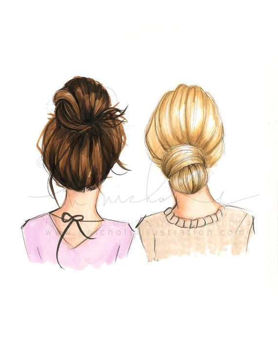 Photo of BunDay (Multiple Hair Color Options, Please Read Description Carefully, Fashion Illustration Print)
