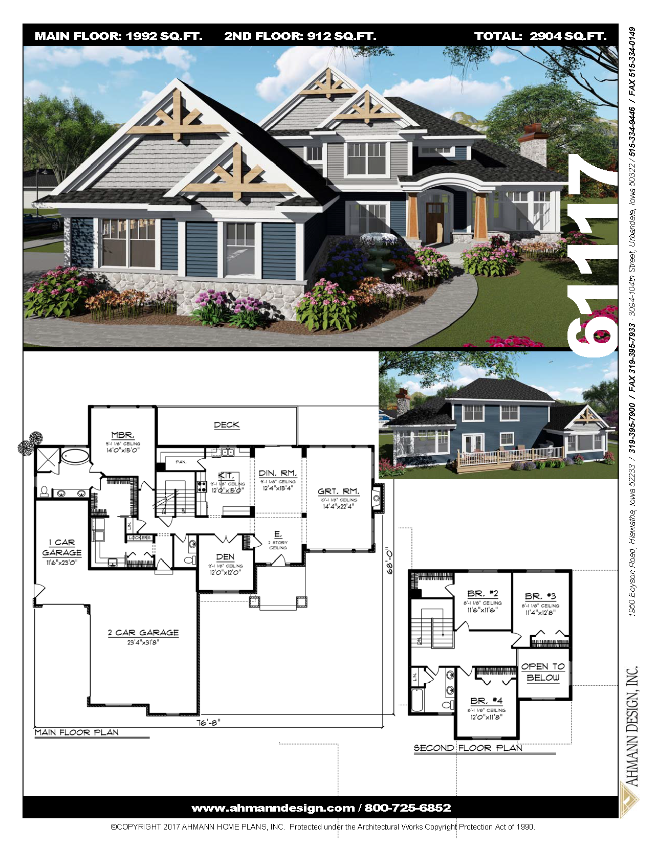 61117 Open Concept House Plans Tutor Style Homes Open Concept Floor Plans