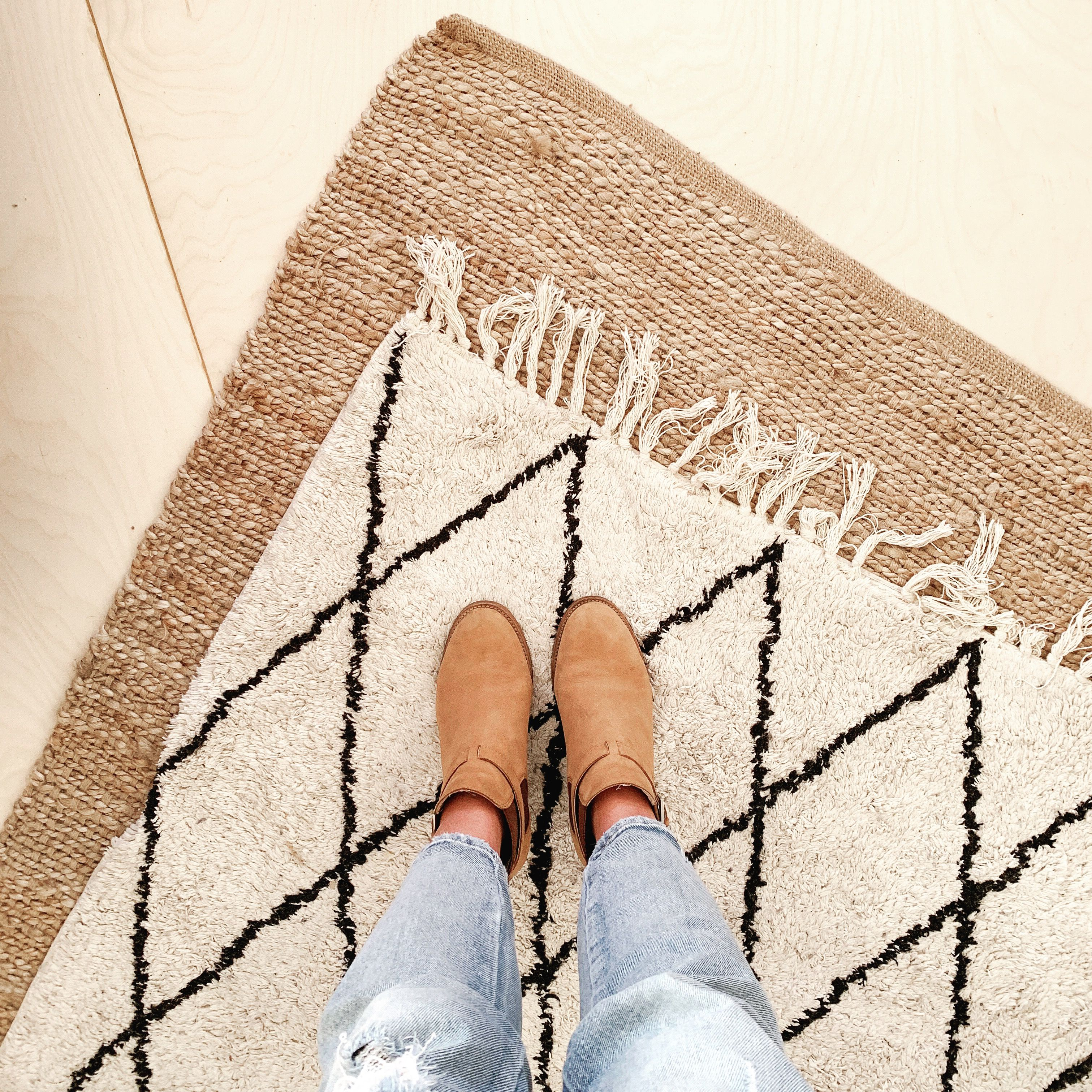 Layered Floor Rugs Kmart Created By The Musing Room Wooden